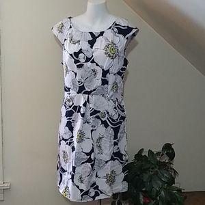 ⚜️🆕dBy Ltd Blk/wht and yellow flowered dress